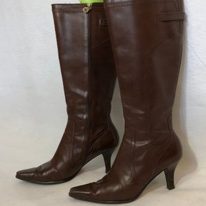 Etienne Aigner Brown leather boots knee high  7m
